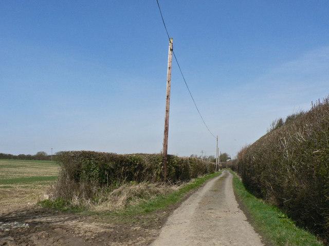 Farm road, Parc Farm, St Donats.