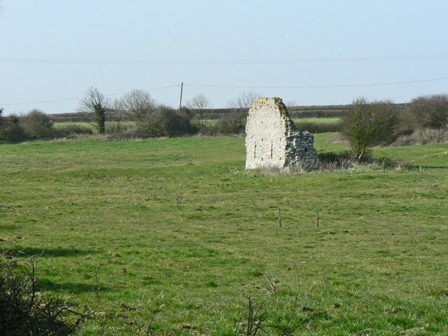 Remains of a barn, Marcross.