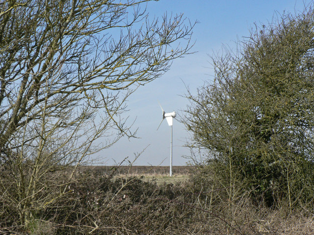 Small wind turbine near Marcross.