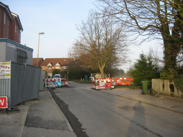 Roadworks for the new flats