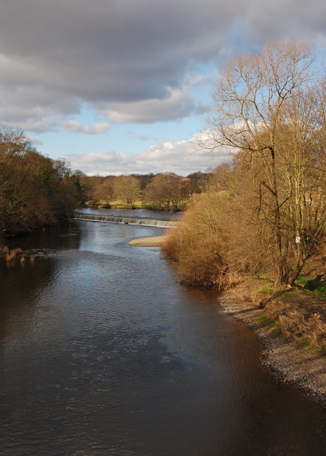 Weir on the River Wharfe at Boston Spa