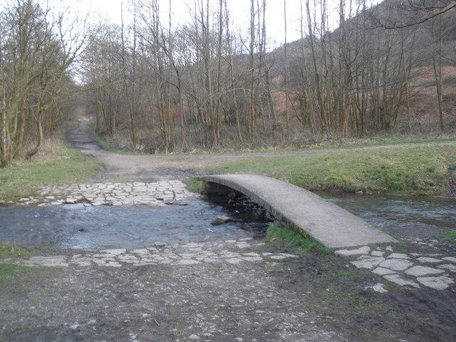 Footpath, crosses the Nant Saerbren, near Treherbert