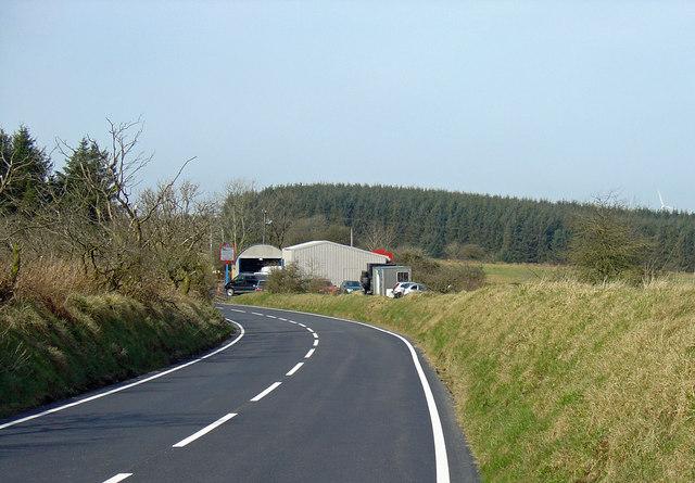 B4333 near Rhyd-y-gwîn, Cynwyl Elfed