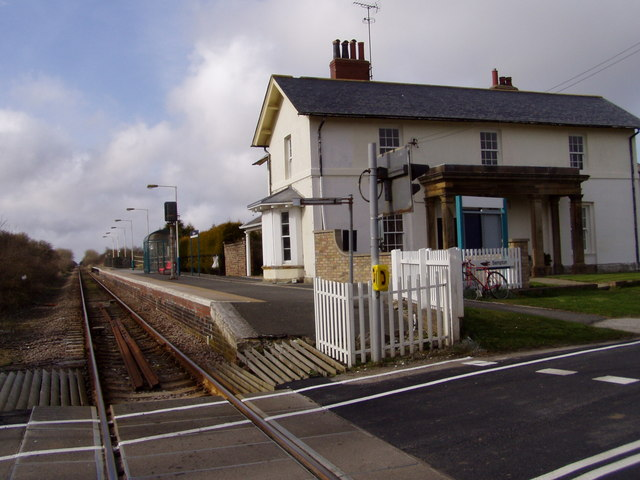 Bempton Railway Station and level crossing
