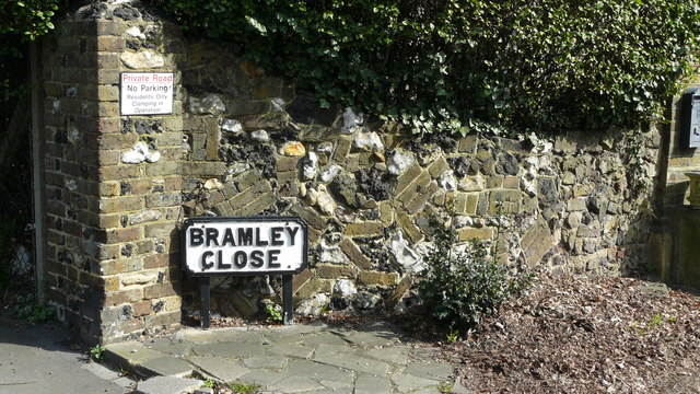 Wall in Bramley Close