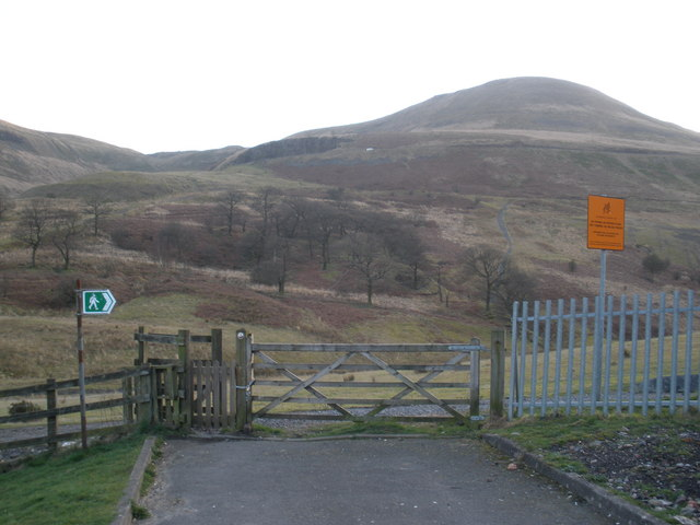 Craig Ogwr, viewed from Cwmparc