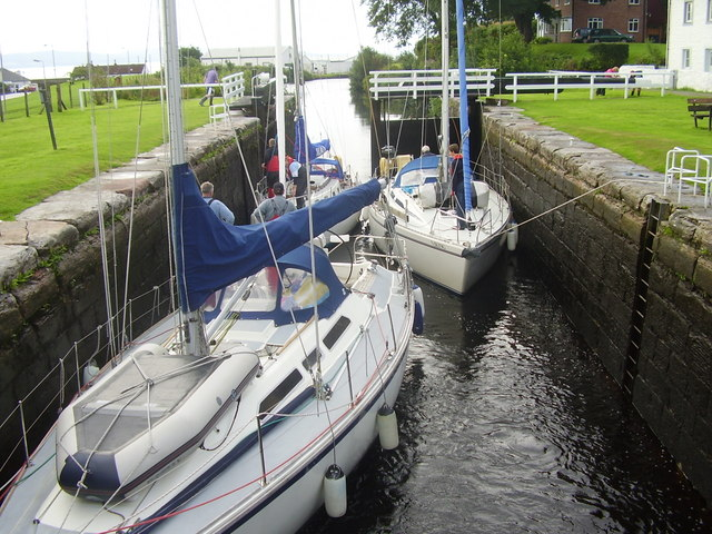 Yachts in lock at Ardrishaig