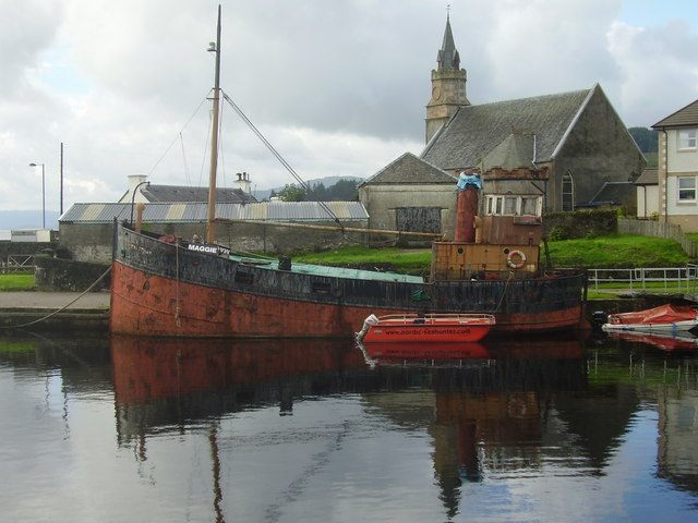 Old Puffer in canal basin at Ardrishaig