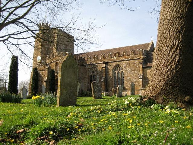 All Saints churchyard  in the springtime - Merriott