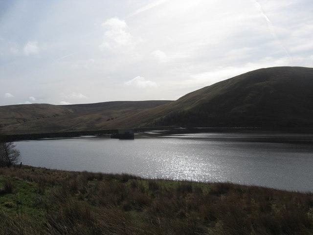 Megget Dam and reservoir