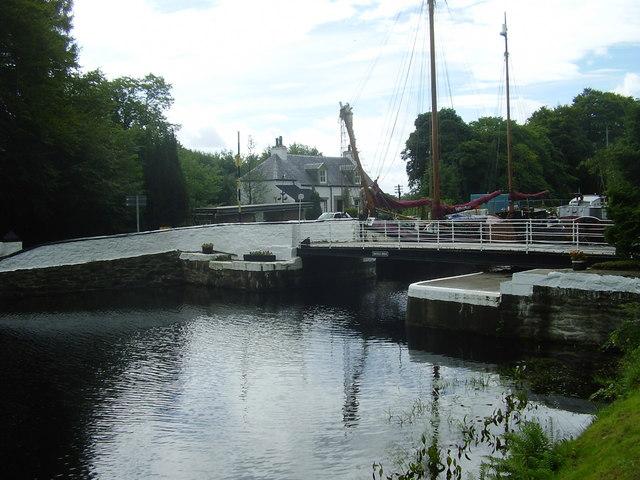 Oakfield swing bridge,Lochgilphead