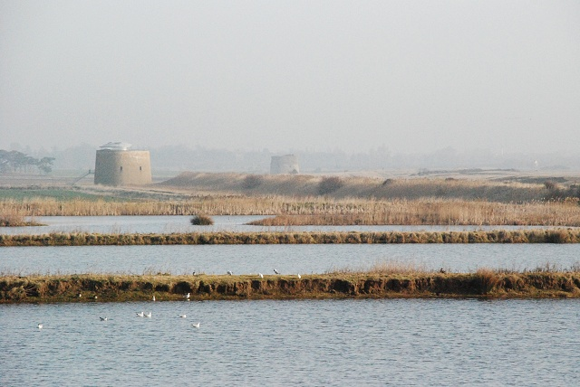 Coastal lagoons and Martello towers