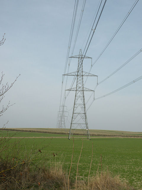 Power lines at Swaffham Prior