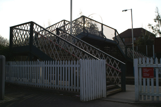 Footbridge, Hawarden Station