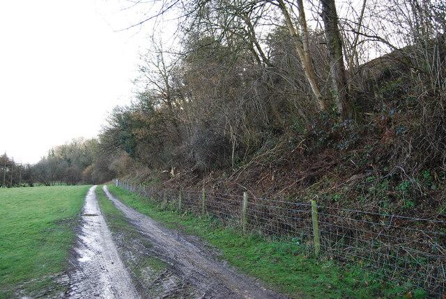 Track running below the Greensand Escarpment