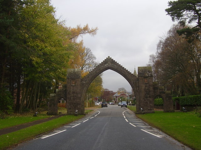 Entrance to the village of Edzell