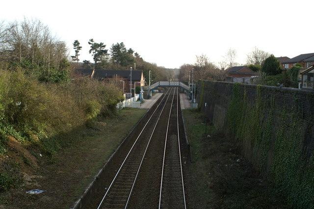 Hawarden Station, from the B5125 bridge