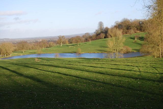 Pond below King John's Hill