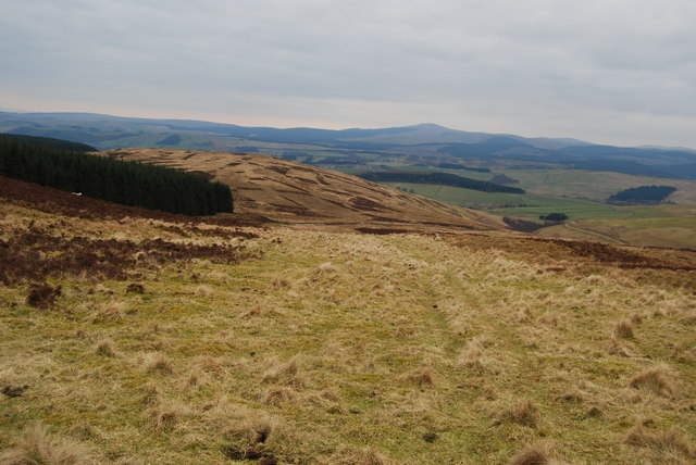 View of Merecleuch Hill from Auldton Fell