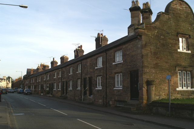 Cottages on the main street (A550)
