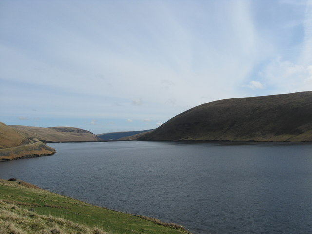 Looking out to Megget Reservoir from near Cramalt