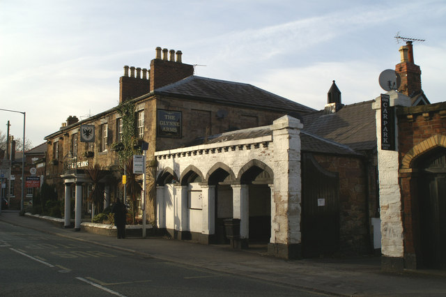 The Glynne Arms, Bus Stop & Bus Shelter
