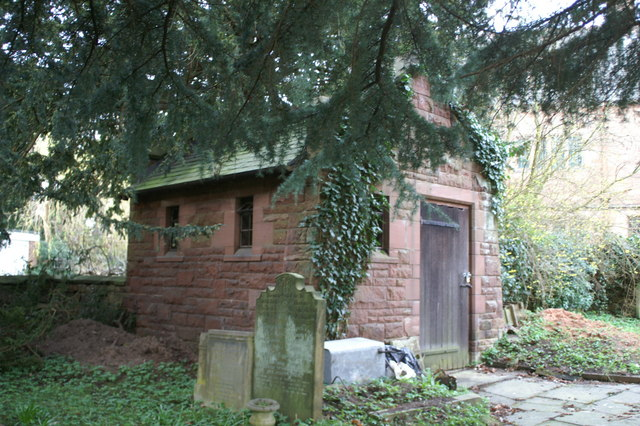 Sexton's tool-shed, St Deiniol's graveyard