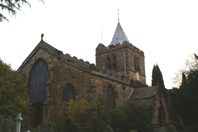South-West corner and Tower, St Deiniol's Church