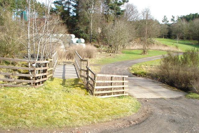 Dry ford and  associated footbridge near Medwynbank