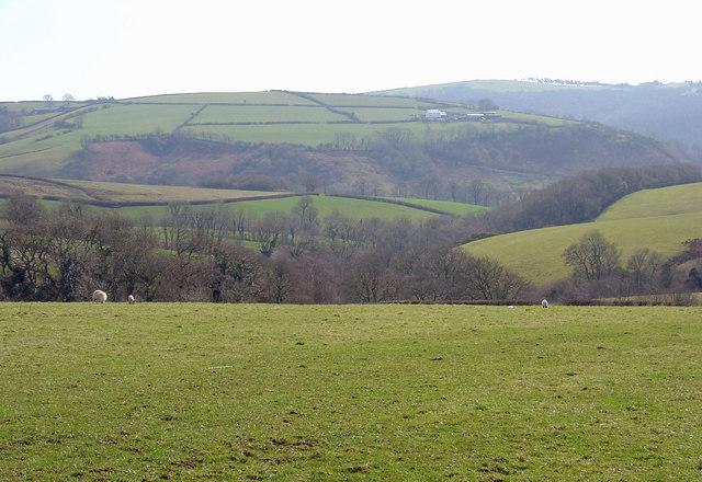 Valley near Waun-lŵyd, Cynwyl Elfed