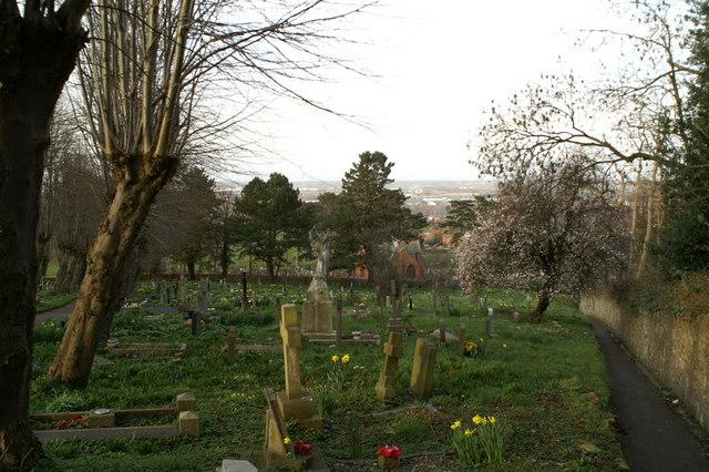 Spring, St Deiniol's graveyard