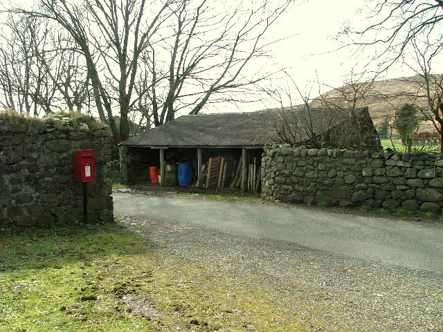 Farm building and Postbox