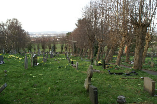 St Deiniol's graveyard, central area