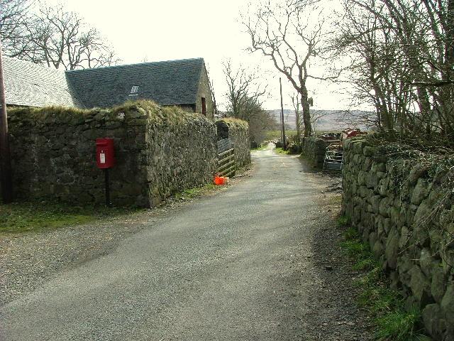 Road through Glenbrittle House farm