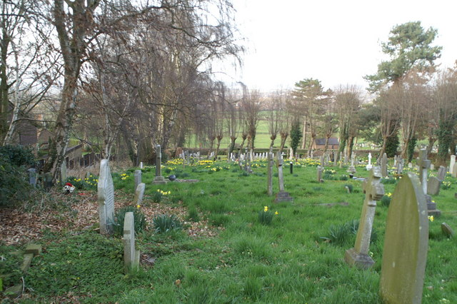 Western side of St Deiniol's graveyard
