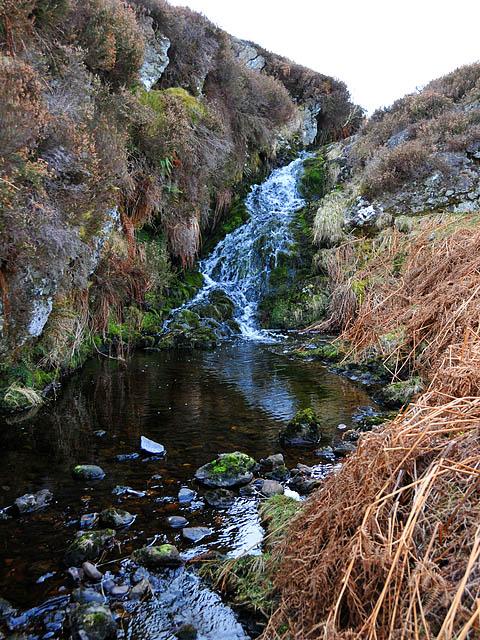 Waterfall on unnamed burn