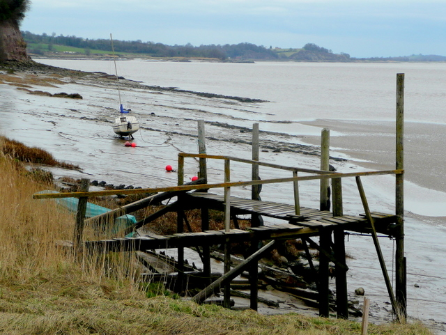 Old jetty by the Severn estuary