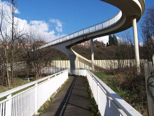 Footbridge Over The M1 near Junction 34, Sheffield / Rotherham - 3