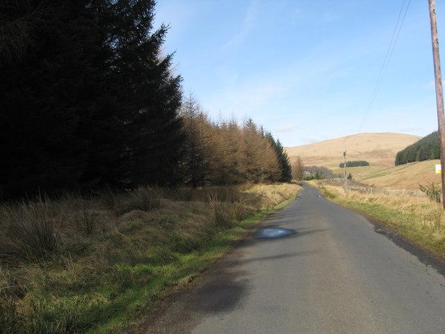 Road nearing Tweedsmuir