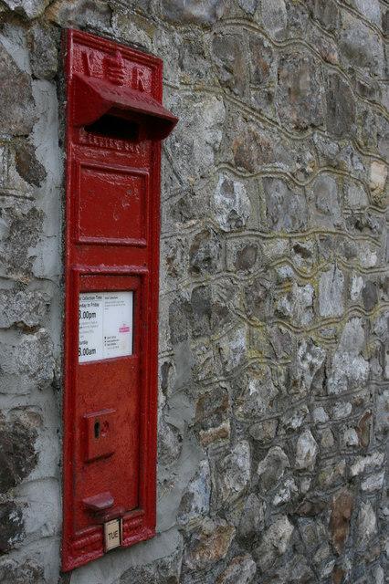 """ V R "" postbox at Poundisford."