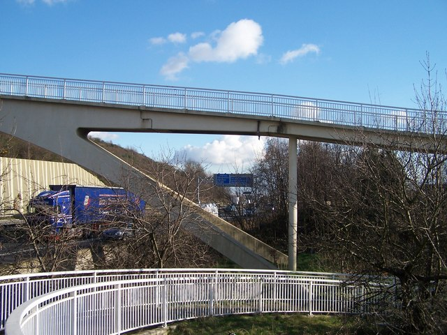 Footbridge Over The M1 near Junction 34, Sheffield / Rotherham - 5