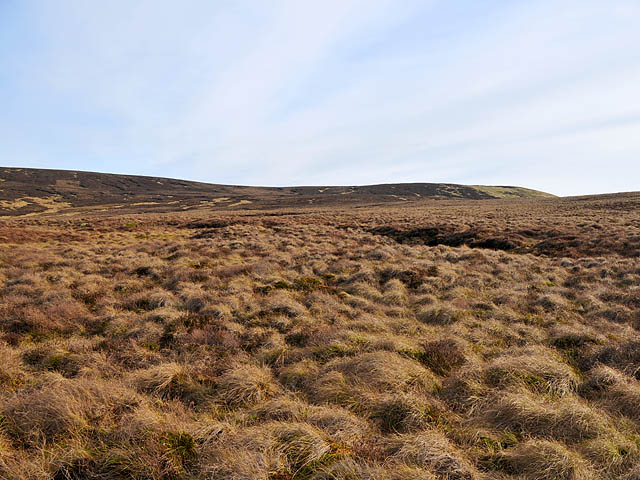 Moorland and northern slope of Ben Clach