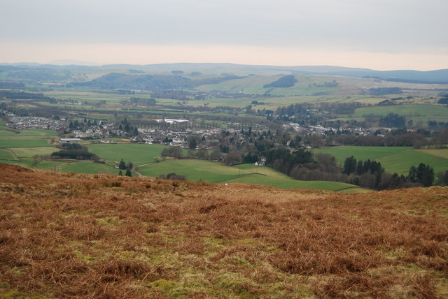 View of Moffat from hill above Alton
