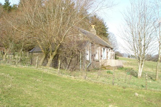 Derelict cottage at Hardgatehead