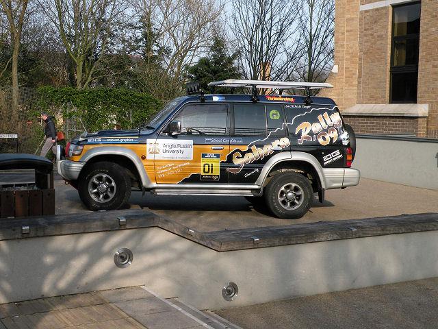 Sahara Rally promotional display