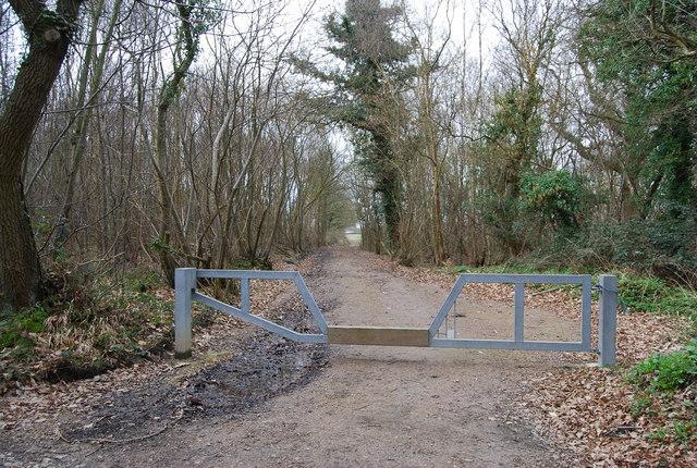 Gate across a bridleway, Hackington Rd