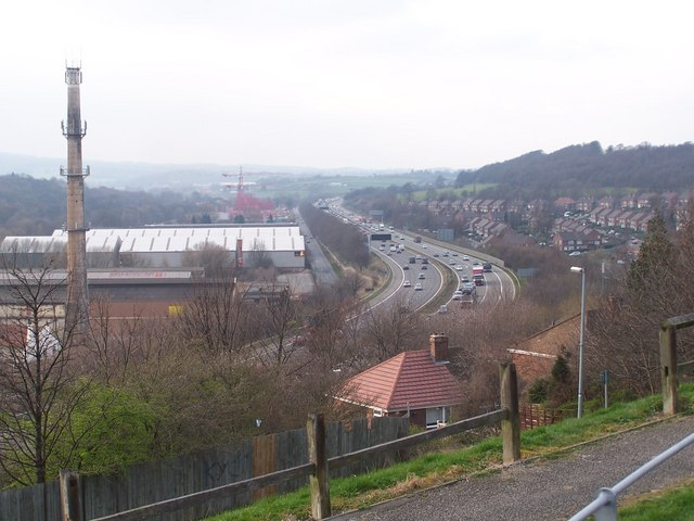 M1 Motorway, near Junction 34, Sheffield / Rotherham