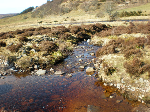 Allt a' Bhreabadair going down to the River Findhorn