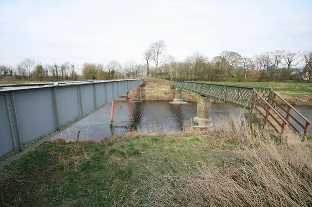 Pipeline and Footbridge Across the Wyre