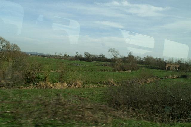 Fields north of Trafford Mill